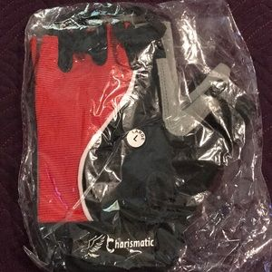 Air Mesh Padded Palm Weight Lifting Gloves Blk/Red